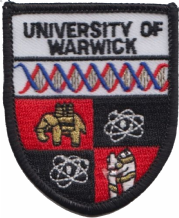 Warwick University Shield Embroidered Badge